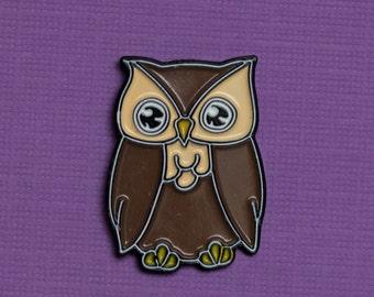 Fukuro Owl Enamel Pin - Lucky Charm
