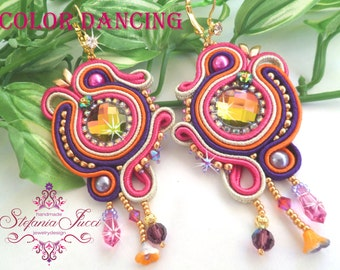 Kit + TUTORIALS DIY Italian-Color Dancing-Earrings