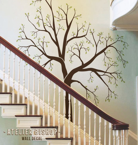 Giant Family photo tree for staircase wall hallway wall decal