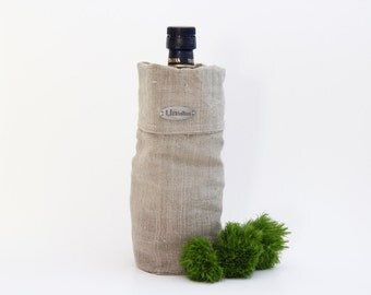 Lininline wine/ oil bottle tote bag