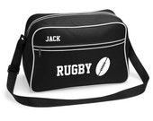 Personalised Retro  Rugby Sports  Bag by Inspired Creative Design