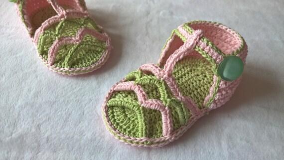 Crochet baby sandals PATTERN. Summer Striped Sandals ...
