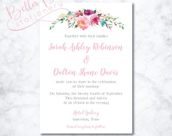 Sarah Wedding Invitation Design