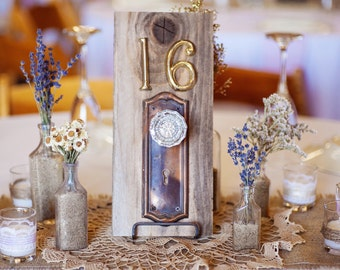 Vintage Door Knob Table Number