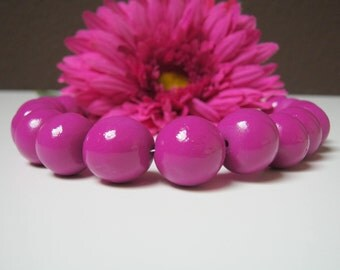 Purple Fimo necklace