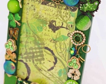 Irish-themed jeweled picture frame