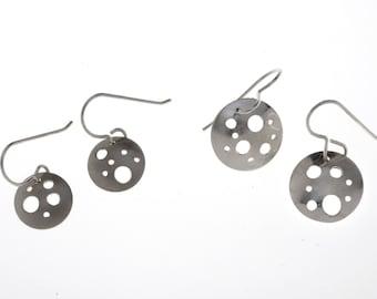Handmade Sterling Silver Disc Earrings