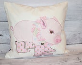 Baby Pig Pillow - holds magazines - reading glasses - pens