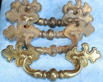 Heavy Brass drawer pulls (044)