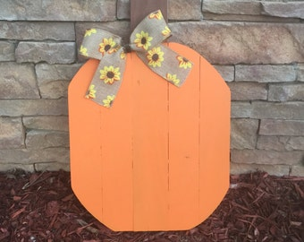 Pallet Pumpkin - Reclaimed Wood - Fall Decor - Halloween Decoration