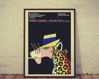 Polish Movie Poster The Return of the Pink Panther Edwards Sellers Plummer Limited Edition 1977/2016