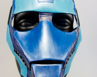 Blue Steel Leather Masks