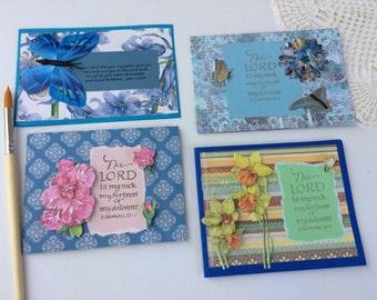 Premium handmade scripture greeting cards 4 pack