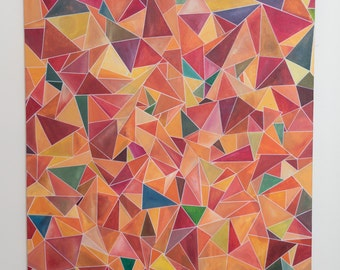 Original Geometric Abstract (Multi-Color)