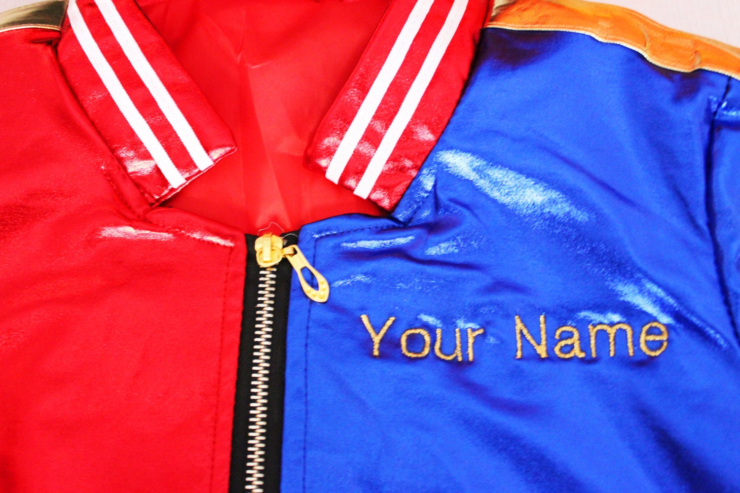 Harley quinn costume jacket personalized embroidered