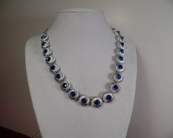1950's Elegant Necklace Signed Star