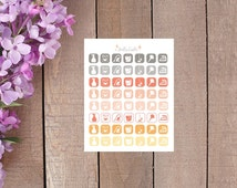 Cleaning Household Icons for your Planner in Dreamsicle Colors