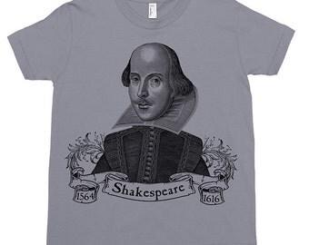 William Shakespeare Kids Tee Shirt Size 2-12