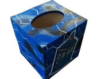 Dr. Who Hand Painted Tissue Box Hand Painted Tardis Matches Toilet Seat in Shop