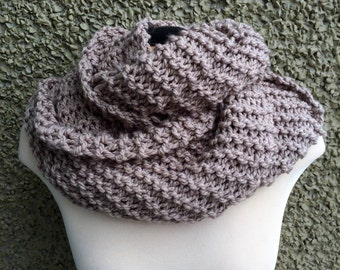 Outlander Inspired Chunky Knit Cowl in Brown