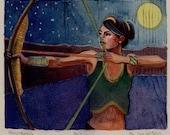 Archer Framed Linocut Ori...