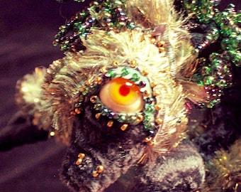 Custom soft sculpture Fantasy Frou Frou Lizard Art Doll