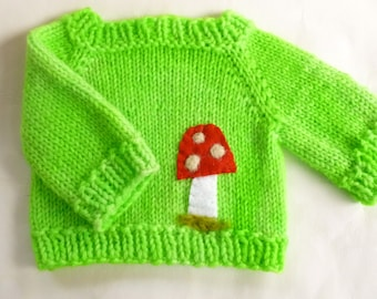 Wool sweater for doll or teddy bear ready to ship