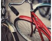 Bicycle Photography - Bikes - Fine Art Photograph - Schwinn II - Bike Photograph - Summer - Red - Childrens Art - Summer - Bicycle Art