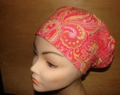 New Yellow and Orange Flower Euro Style Medical Surgical Scrub Hat Vet Nurse Chemo