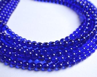Michelle - Cobalt Glass Bead Statement Necklace