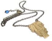 Art Deco Necklace, Vintage Design, Swarovski Crystal, Chain Necklace, Vintage Necklace, Art Nouveau Necklace, Victorian Style Necklace