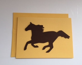 Handmade Horse and Equestrian Note Card  FREE Shipping