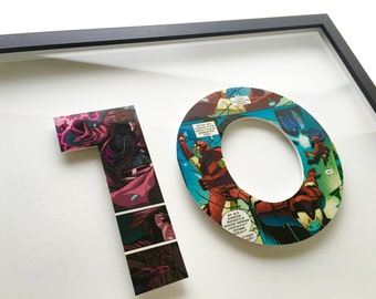 2 letters - CUSTOM superhero alphabet letters and numbers