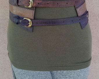 Vintage 1970s Belt Faux Leather Vegan Waist Cincher Up To 28 Waist 2015262