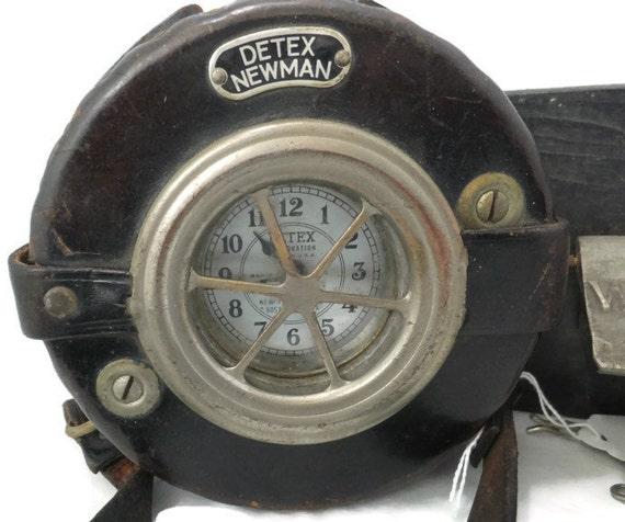 Vintage Nightwatchman Clock Detex Newman Watchclock