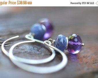 ON SALE Tanzanite Earrings Amethyst Earrings Sterling Silver Lavender Violet Earrings Purple Jewelry Women Jewelry Gift for Mom Gift for Her