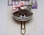 Raccoon Planner Clip, Bookmark, Planner Accessory, Paper Clip