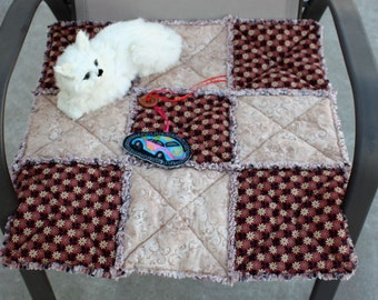 Cat Blanket, Cat Quilt, Cat Bed, Beds for Cats, Cat Bedding, Small Dog Bed, Dog Blanket, Brown Pet Bed,Cat Accessories, Pet Bedding