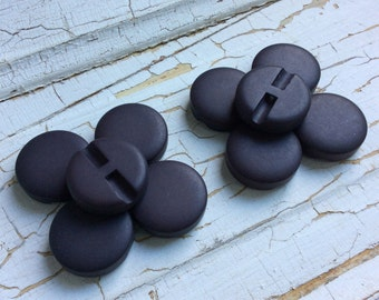 "Chunky Dark Brown Buttons,Smooth Matte Finish,Vintage Buttons,1"" in Diameter,Coat Button,Heavy Button,New Old Stock,/Set of 10"