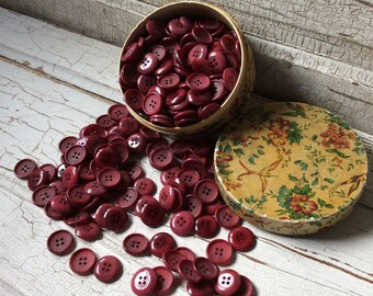 Cranberry Vintage Buttons Lot of 40