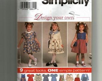 Simplicity Child's Dress Pattern 7097