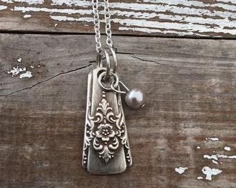 CRAZY SALE- Spoon Necklace-Simple Pendant-Spoon Stem Pendant