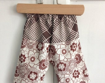 35% OFF CRAZY SALE- Newborn Floral Pants-Upcycled-Eco Friendly-Itty Bitty
