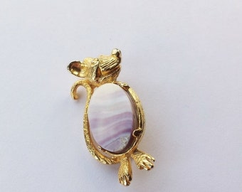 ON SALE Vintage glass mouse brooch