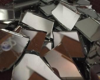 Mosaic Tiles Broken Mirror Glass Shards Pieces Tesserae 200