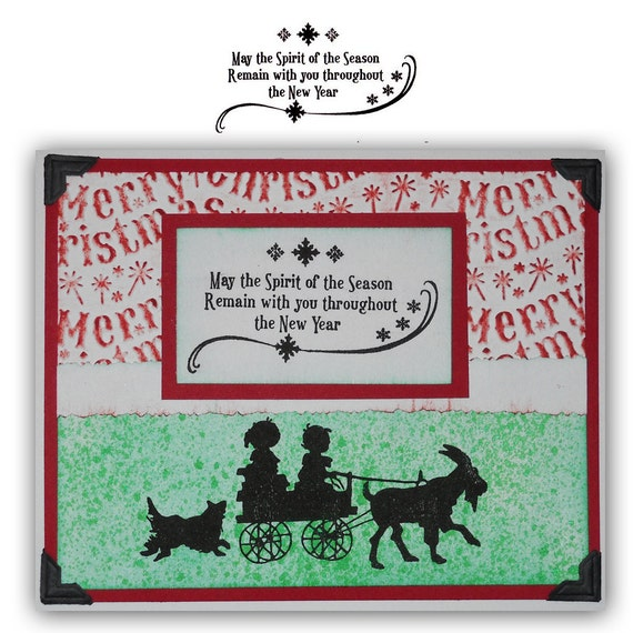 Spirit of the Season unmounted Christmas rubber stamp No.19