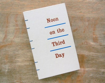Journal, 1962 Vintage Noon On The Third Day, Ready to Ship