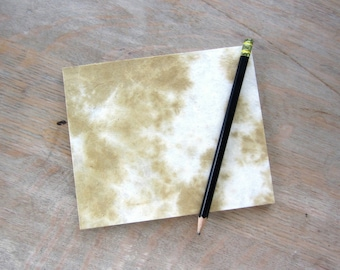 Small Sketchbook Travel Journal or Guest Book, Caramel 5x6 inches, unlined hand torn pages