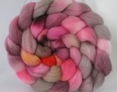 Hand Dyed Merino Wool Combed Top Roving  (4.0 oz.) - DINNER PARTY -Spinning Fiber Hand Painted Kettle Dyed Braid Needle Felting