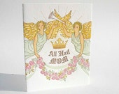"A2 Angels ""All Hail Mom"" letterpress card"